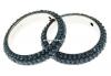 Swarovski, pave ring, montana, 18.5mm - x1
