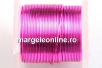 Sarma cupru placata cu argint, 0.32mm, roz intens, 4.6m