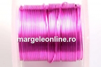 Sarma cupru placata cu argint, 0.32mm, roz , 4.6m