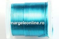 Sarma cupru placata cu argint, 0.32mm, albastru marin, 4.6m