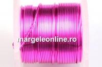 Sarma cupru placata cu argint, 0.40mm, roz, 4.6m