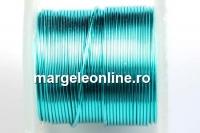 Sarma cupru placata cu argint, 0.40mm, albastru marin, 4.6m