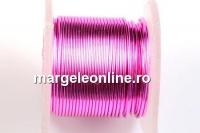 Sarma cupru placata cu argint, 0.51mm, roz, 4.6m