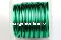 Sarma cupru placata cu argint, 0.51mm, verde, 4.6m