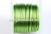 Sarma cupru placata cu argint, 0.8mm, verde lime, 2.75m