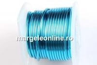 Sarma cupru placata cu argint, 0.8mm, albastru marin, 2.75m
