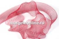 Organza metalica, tub circular, rosu grena