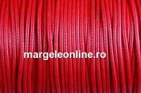 Snur imitatie piele, rosu India, 1.5mm - 5m