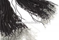 Snur pret-a-porter piele naturala, maro, 2.5mm - x3