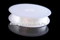 Guta elastica, alb transparent, 0.5mm