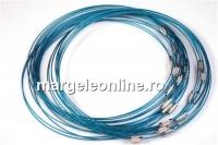 Baza colier, albastru marin - x3