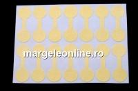 Etichete rotunde pentru bijuterii, galben auriu - x28