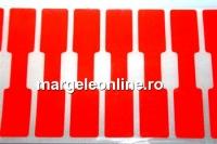 Etichete pentru bijuterii, rosu neon - x20buc