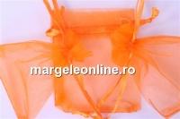 Saculet organza, portocaliu, 9x7cm - x20