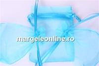 Saculet organza, turcoaz intens , 9x7cm - x20
