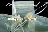 Saculet organza, ivory, 12x9cm - x20