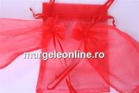 Saculet organza, rosu, 15x10cm - x20