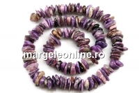 Charoite, free form rondelle, 8-11mm