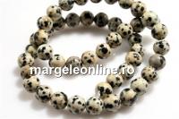 Dalmatian jasper, round, 8.5mm