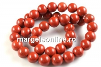 Red jasper, round, 10mm