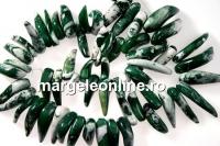Coral, verde-alb, caju, 30-35mm
