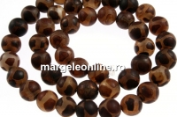 Natural tibetan style agate, round , 8mm