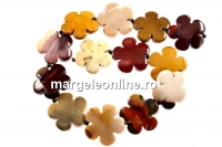 Moukaite jasper, flower, 30mm