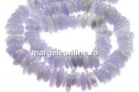 Blue chalcedony, free form disc, 12-15mm