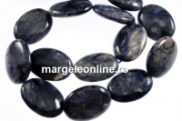 Blue dumortierite, flat oval, 25x18mm