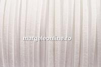 Snur faux suede, alb, 3mm - x5m