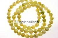 Margele sidef ivory olive, rotund, 5.5-6mm