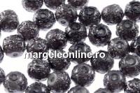 Perle sticla efect, albastru petrol intens, 8mm - x40