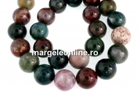 Indian agate, round, 16mm