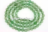 Green aventurine, faceted round, 4.5mm