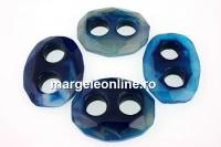 Unisex link, blue agate, 37-38mm - x1