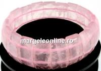 Bratara cuart roz, 20.5x10.5mm