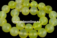 Agate, yellow, round, 12mm