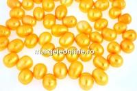 Perle de cultura - 10-11mm, portocaliu
