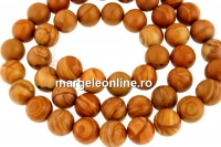 Brown wood lace jasper, round, 8.5mm