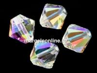 Swarovski, margele bicone, crystal AB, 8mm - x10
