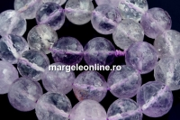 Amethyst, light clear, faceted round, 14mm