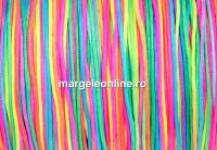 Snur matase pentru bratari, multicolor, 0.8mm - x5m