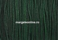 Bobina snur matase pentru bratari, verde intens , 1mm - x35m