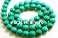 Natural stone Turquoise,  A grade, round, 7.5mm