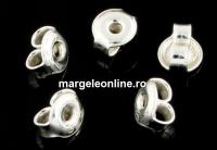 Fluturas universal pentru fixare cercei argint 925, 4.5mm - x4buc