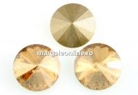 Swarovski, rivoli, golden shadow, 10mm - x2