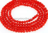 Coral, rosu portocaliu, rotund fatetat, 2.2mm