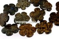 Bronzite, flower, 30mm