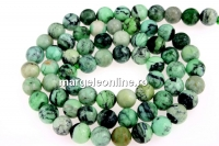 Natural lime turquoise, round, 6mm