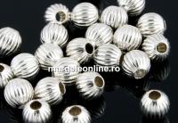 Margele decor, argint 925, 3mm - x10